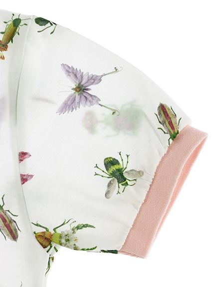 OTONA Insecteポロシャツ gris / rose