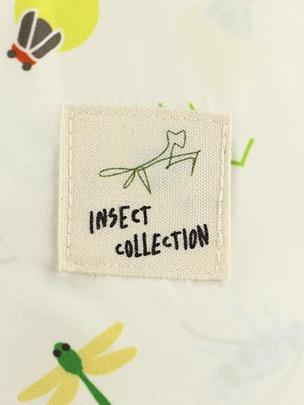 デフォルメ昆虫大集合ライト中綿ジャケット オフホワイト