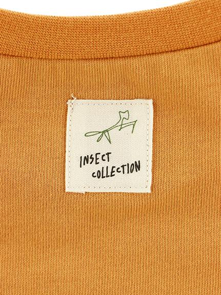 ロゴ刺繍ポケット&昆虫ワッペン付きスリーブTシャツ オーガニックコットン使用
