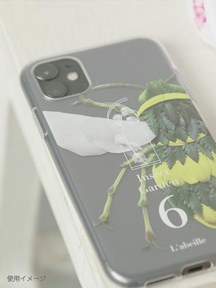 Nombre iPhoneケース カブトムシ5 transparent