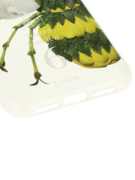 Nombre iPhoneケース ハチ6 transparent
