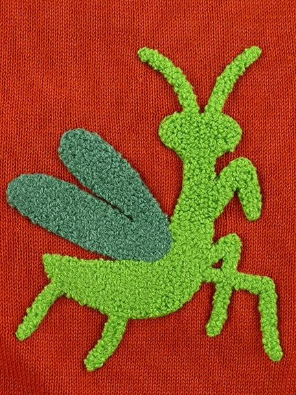 さがら刺繍昆虫ニットベスト
