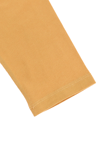 大人も!カマキリサイン ロープ刺繍長袖Tシャツ オレンジ オーガニックコットン使用