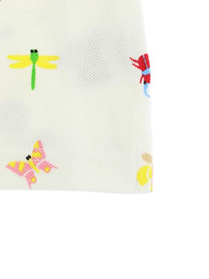 ランダム昆虫大集合ポロシャツ ホワイト