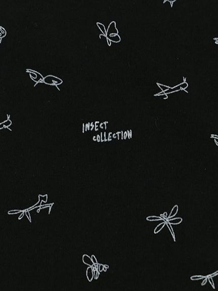 大人も!昆虫サイン・モノグラム 長袖Tシャツ ブラック
