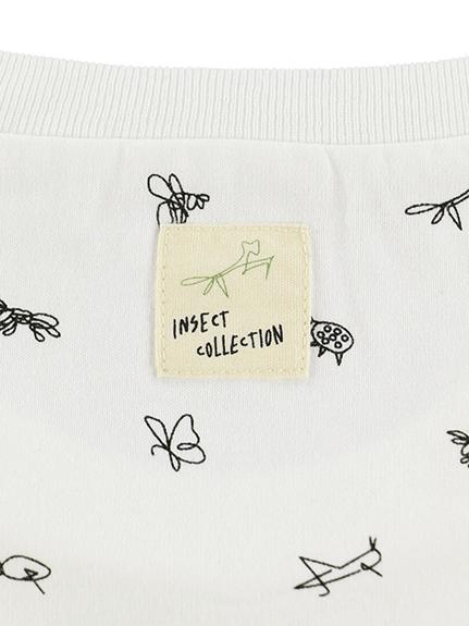 大人も!昆虫サイン・モノグラム 長袖Tシャツ ホワイト