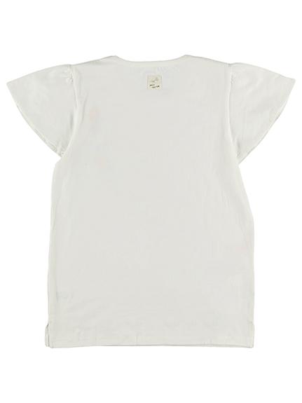 大人も!太陽に当たると昆虫ゲット!?フラワー虫かごTシャツ ホワイト オーガニックコットン使用