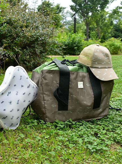 【予約商品】レジカゴにぴったり!アウトドア保冷バッグ再生素材使用 【7月上旬発送予定】