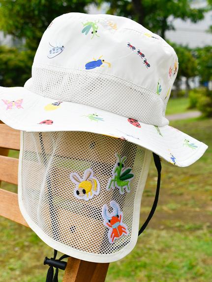 【予約商品】サンシールドで昆虫ゲット!?通気性メッシュ&ひも着脱式アウトドアハット  【7月中旬発送予定】