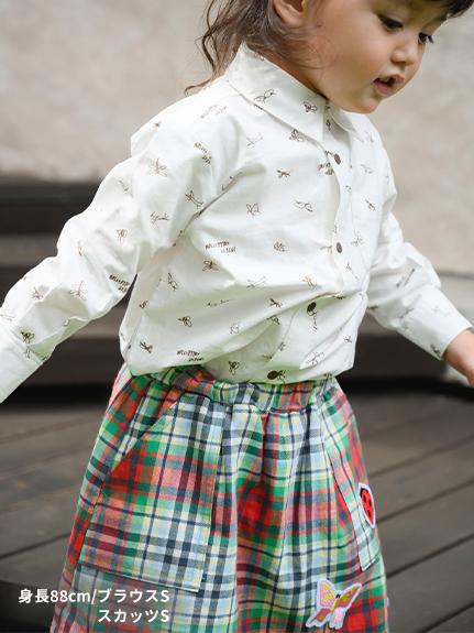 インセクトタータン・ビッグワッペンスカッツ(ショートパンツ付きスカート) チェック