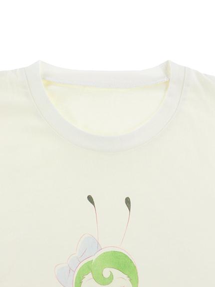 大人も!インセクトランド学習帳付きモンシロチョウのエデンTシャツ ホワイト オーガニックコットン使用