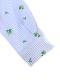 アイロン要らずな速乾ギンガムかまきりくんシャツ ブルー キッズ