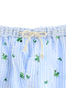 【大人も!かまきりくんリラックスパンツ】速乾・アイロン要らずな総刺繍ストライプ スカイ