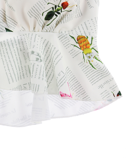 OTONA Encyclopedie セパレートスイムウェア blanc