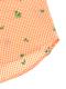 アイロン要らずな速乾ギンガムかまきりくんシャツ オレンジ キッズ