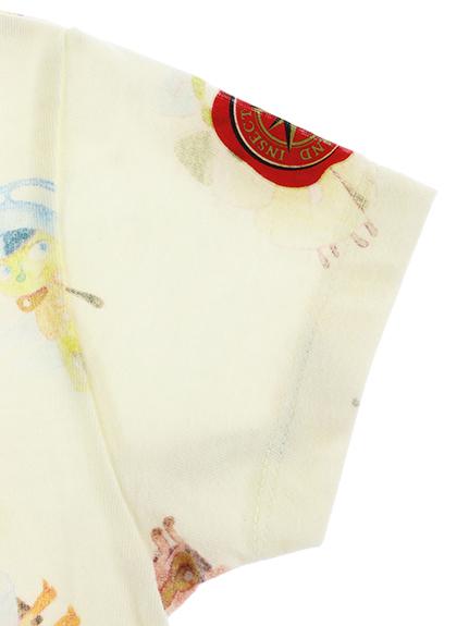 インセクトランドのなかまたち大集合Tシャツ クラシックアイボリー オーガニックコットン使用