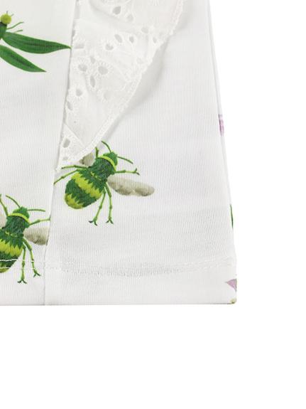 KODOMO Insecteフリルトップス blanc