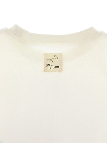 ありさんプリントTシャツ ホワイト キッズ オーガニックコットン使用