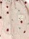 【大人も!てんとうむしちゃんリラックスパンツ】速乾・アイロン要らずな総刺繍ストライプ カフェオレ