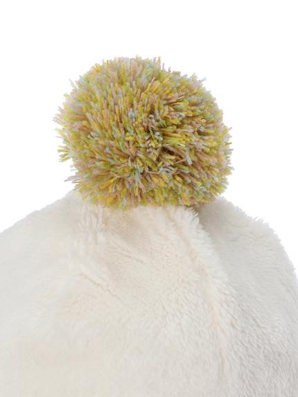 カイコガ&にぎやか昆虫ポンポンキャップ オフホワイト
