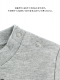 昆虫大集合長袖Tシャツ グレー キッズ オーガニックコットン使用