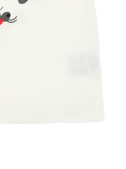 ありさん10匹 ありがとう Tシャツ ホワイト オーガニックコットン使用