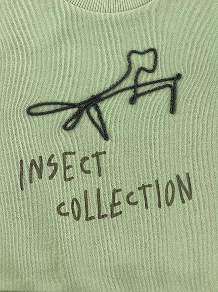 ロープ刺繍ロゴスウェット オリーブ キッズ オーガニックコットン使用