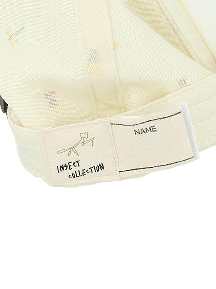 大人も!シリコン刺繍カマキリサイン昆虫集合キャップ オフホワイト