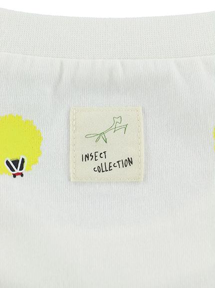 大人も暗闇で光る!蓄光ホタル総柄Tシャツ ホワイト オーガニックコットン使用