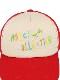 ペールトーン刺繍ロゴキャップ