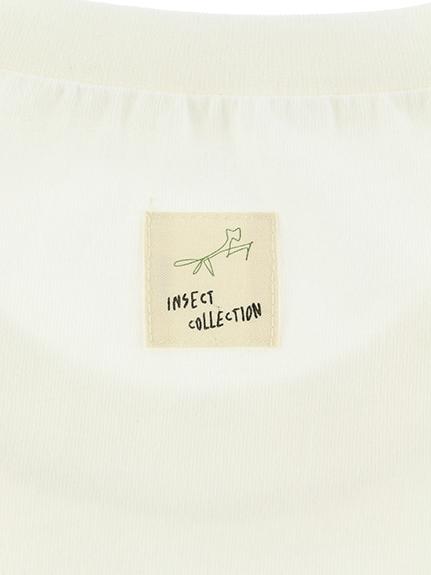 大人も!ありさん10匹 ありがとう Tシャツ ホワイト オーガニックコットン使用