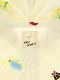 UVカット・ランダム昆虫大集合パーカー オフホワイト オーガニックコットン使用