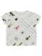 KODOMO 再生ペットボトル100% EncyclopedieクルーネックTシャツ blanc
