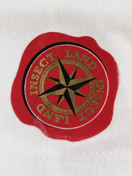 インセクトランド学習帳付きホタルのアダムTシャツ ホワイト オーガニックコットン使用