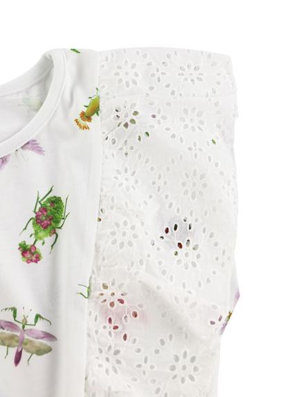 【予約商品】OTONA Insecteフリルトップス blanc【5月下旬発送予定】