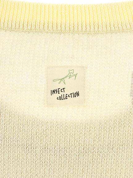 大人も!昆虫サイン・ビッグモノグラム ジャガード織りニット