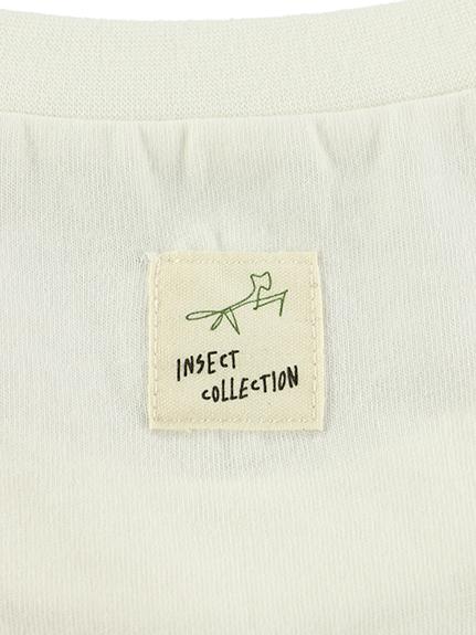 大人も!昆虫プリント長袖Tシャツ オーガニックコットン使用