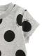 アリドットTシャツ 杢グレー キッズ オーガニックコットン使用