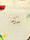 大人も!UVカット・ランダム昆虫大集合パーカー オフホワイト オーガニックコットン使用