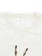 大人も!インセクトランド学習帳付きホタルのアダムTシャツ ホワイト オーガニックコットン使用