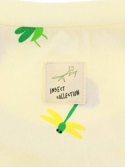 大人も!ランダム昆虫大集合Tシャツ オフホワイト オーガニックコットン使用