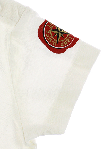 インセクトランド学習帳付きハナカマキリのシャルロットTシャツ ホワイト オーガニックコットン使用