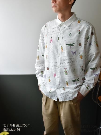 OTONA Encyclopedieメンズシャツ blanc