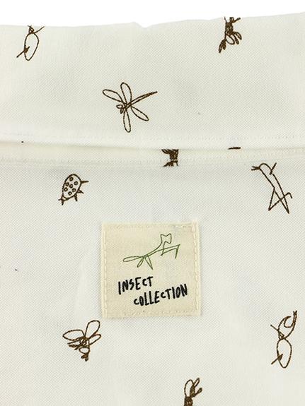 大人も!昆虫サイン・モノグラム・オックスフォードシャツ ブラウン