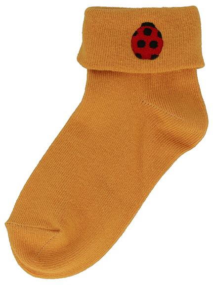 昆虫刺繍折り返しソックス4足セット