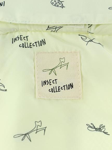 昆虫サイン・モノグラムウインドブレーカー ミルクホワイト