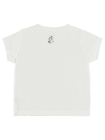 KODOMO Nombre プリント100%再生ペットボトルTシャツ カブトムシ5 blanc