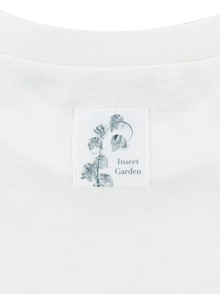 【予約商品】KODOMO Nombre プリント100%再生ペットボトルTシャツ ハチ6 blanc【2月中発送予定】