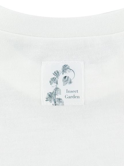 KODOMO Nombre プリント100%再生ペットボトルTシャツ ハチ6 blanc