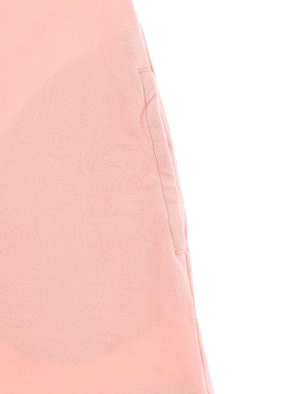 丸襟刺繍ワンピース てんとうむしちゃん ピンク キッズ オーガニックコットン使用